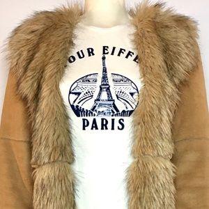 Vintage Tour Eiffel Paris Baby Rib T-shirt